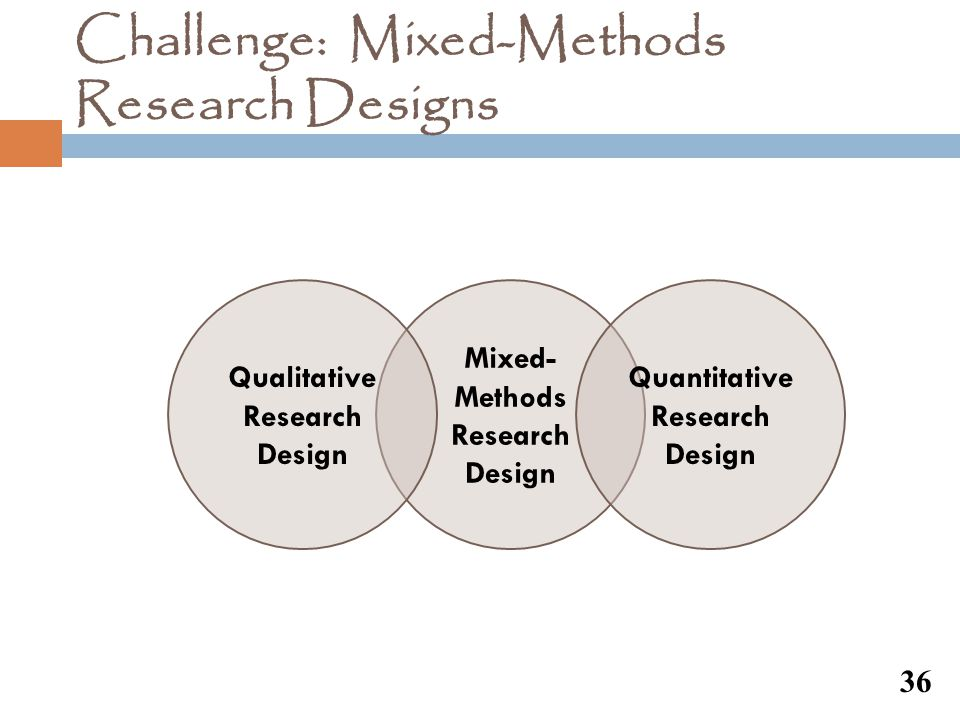 Challenge: Mixed-Methods Research Designs
