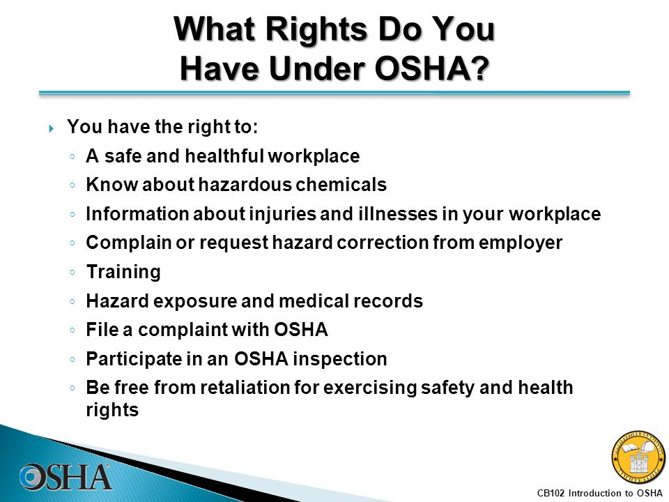 INTRODUCTION TO OSHA Instructor Slides with Notes - ppt download