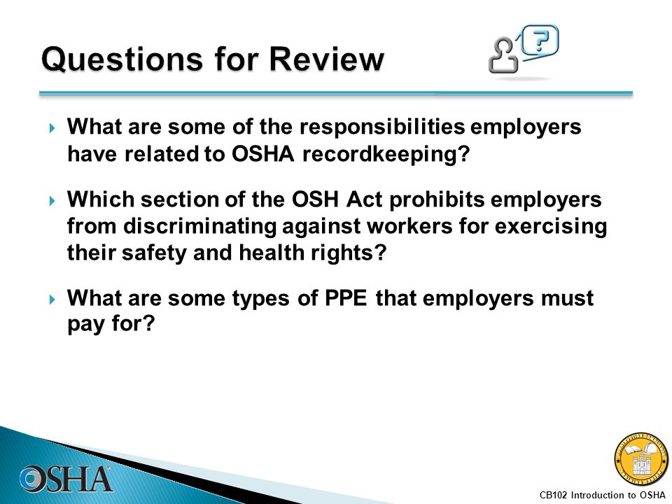osha review questions Associate safety professional this workshop will review hundreds of questions addressing all four domains covered in the exam blueprint that will guide you toward.