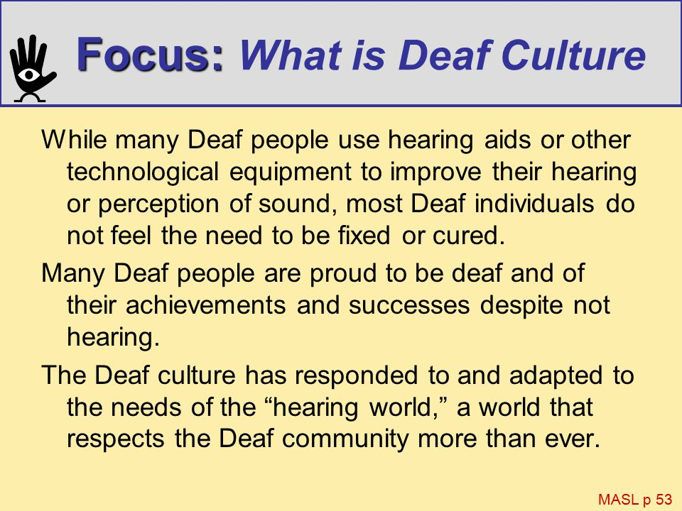 Deaf Research Paper Topic