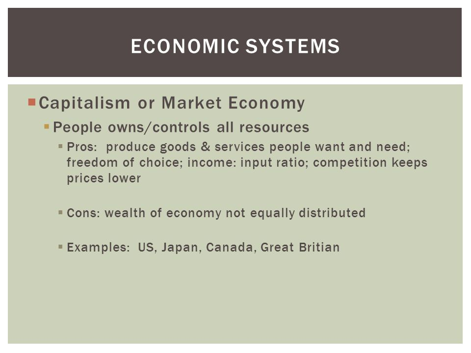 Economics capitalism and command economy