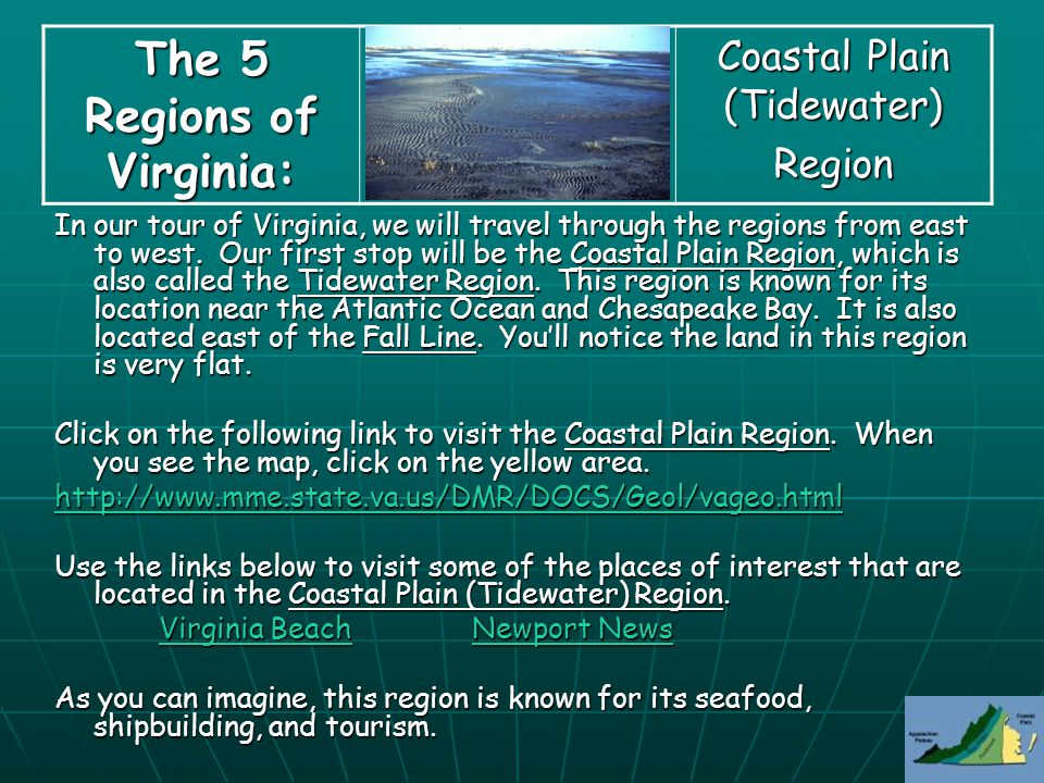 The 5 Regions of Virginia  ppt video online download