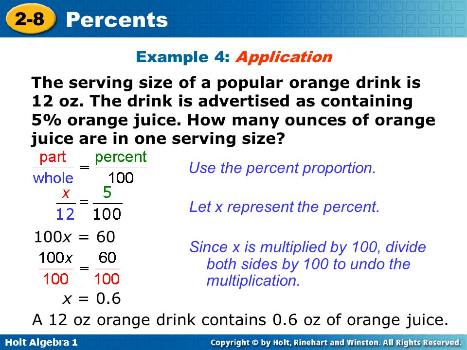 Warm Up Change each percent to a decimal % % % 4. 1% - ppt video ...