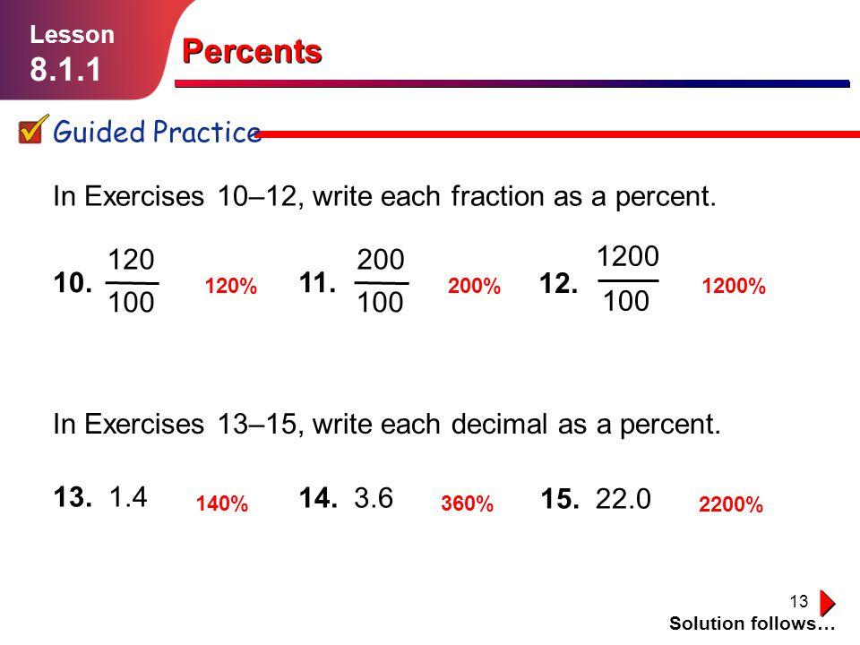Percents Lesson ppt download