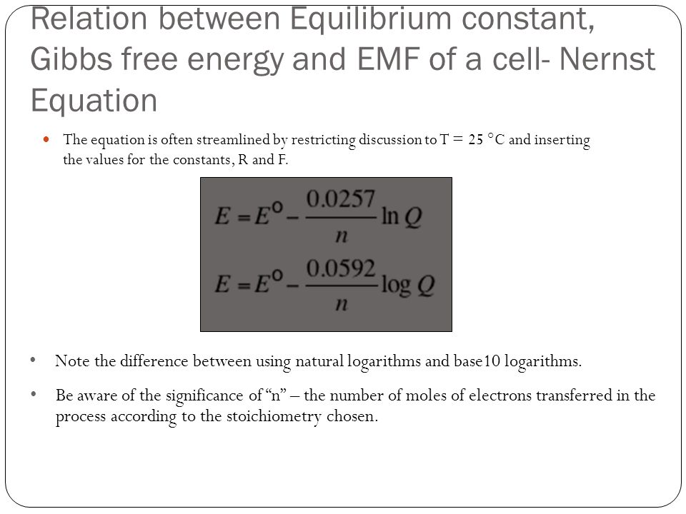 relationship between free energy and chemical equilibrium definition