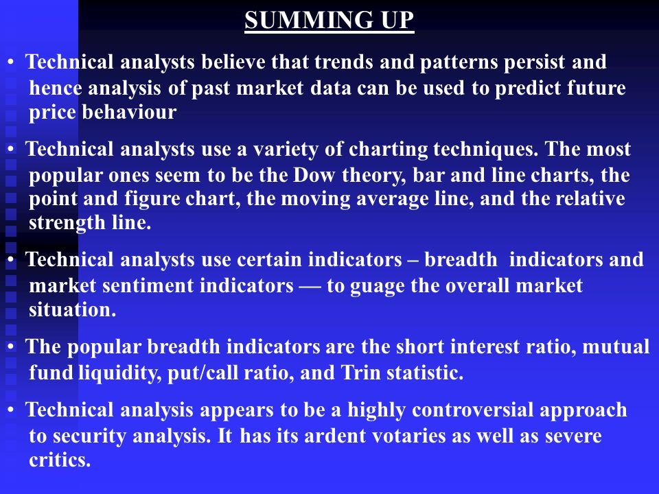 technical analysis and mutual funds testing The efficient market hypothesis returns of us mutual funds is very similar to what would be analysis nor technical analysis techniques will be.