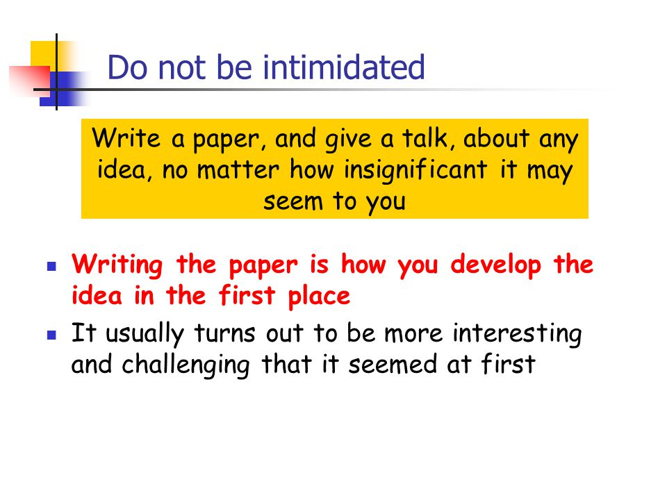 How to write a research paper not in first person