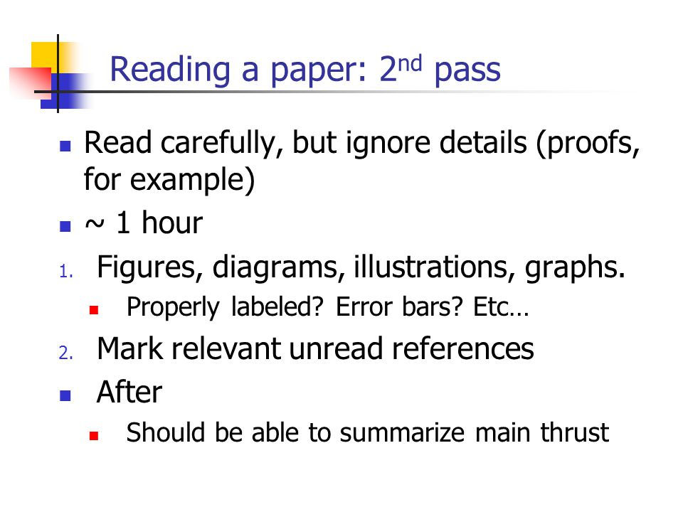 how to a research paper write a research paper ppt  reading a paper 2nd pass
