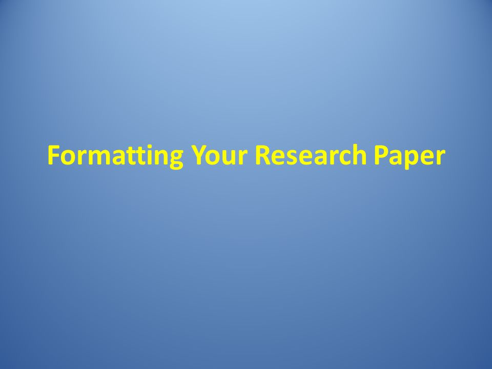 formatting research paper Learn about apa style research papers, review free apa research exampe and get prompts on apa research paper outline and apa research paper format here.