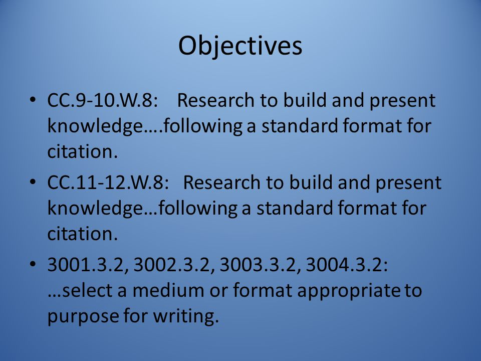 standard format for research paper
