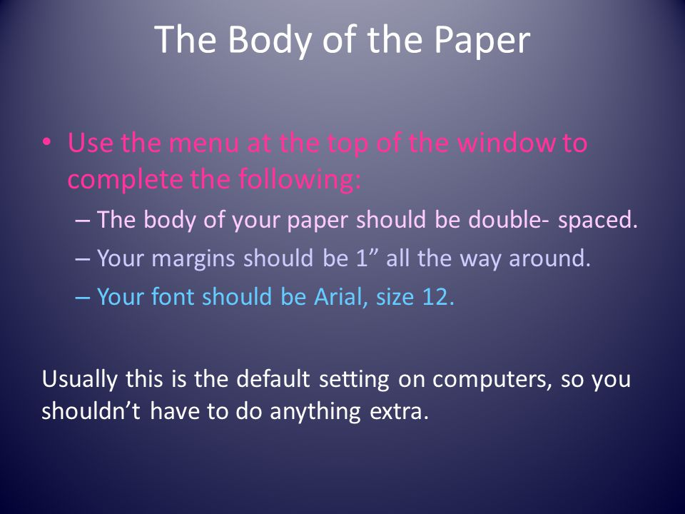 formatting your research paper ppt