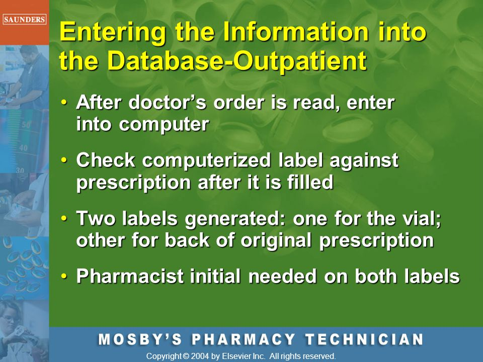Entering the Information into the Database-Outpatient