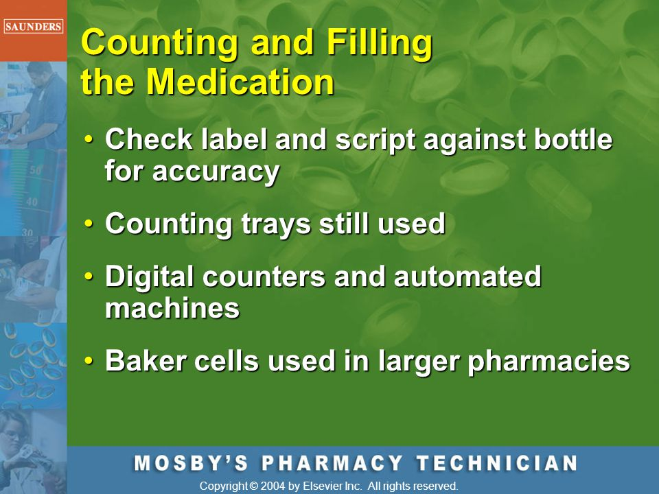 Counting and Filling the Medication