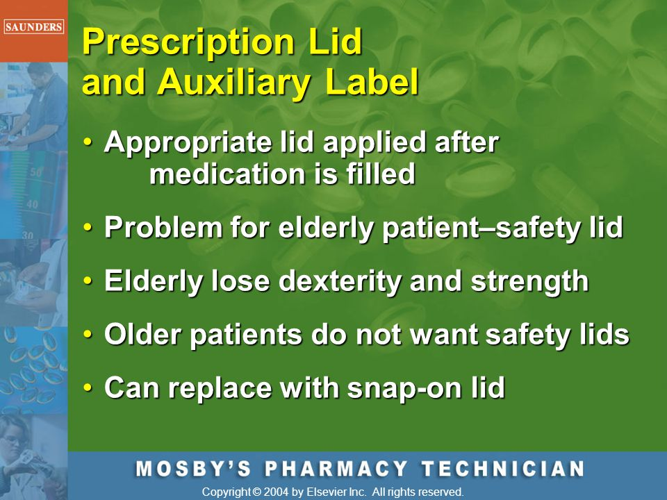 Prescription Lid and Auxiliary Label