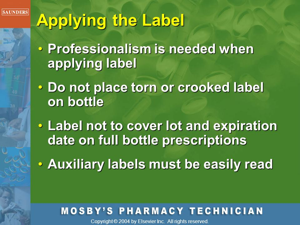 Applying the Label Professionalism is needed when applying label