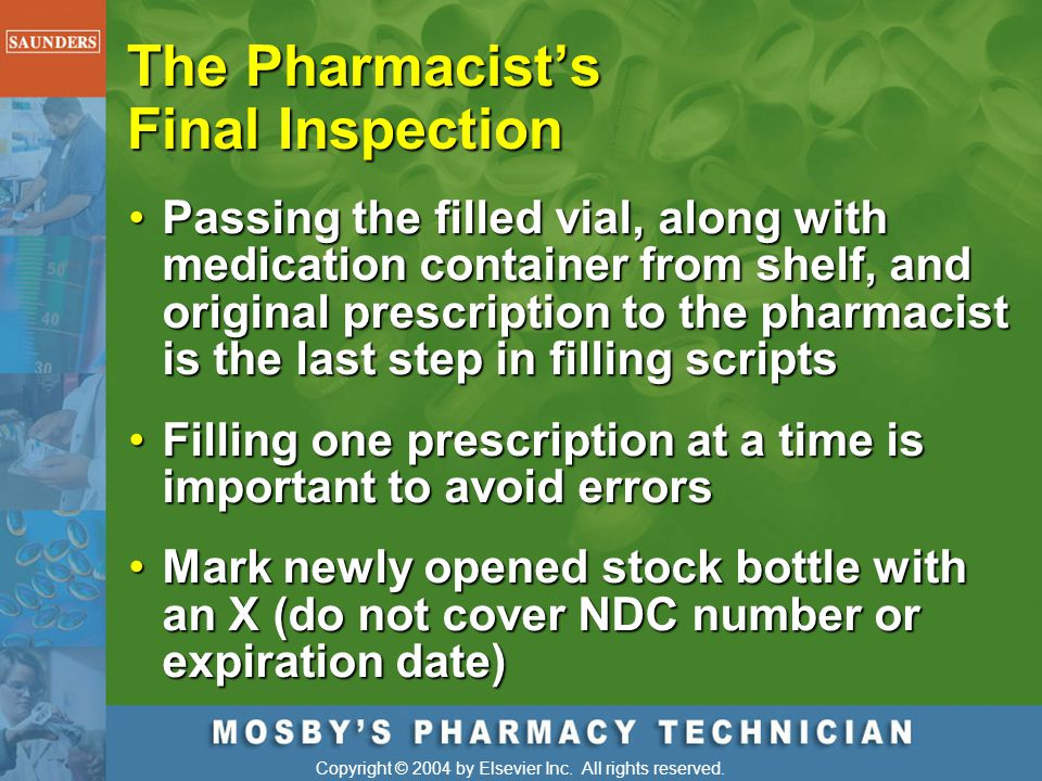 The Pharmacist's Final Inspection