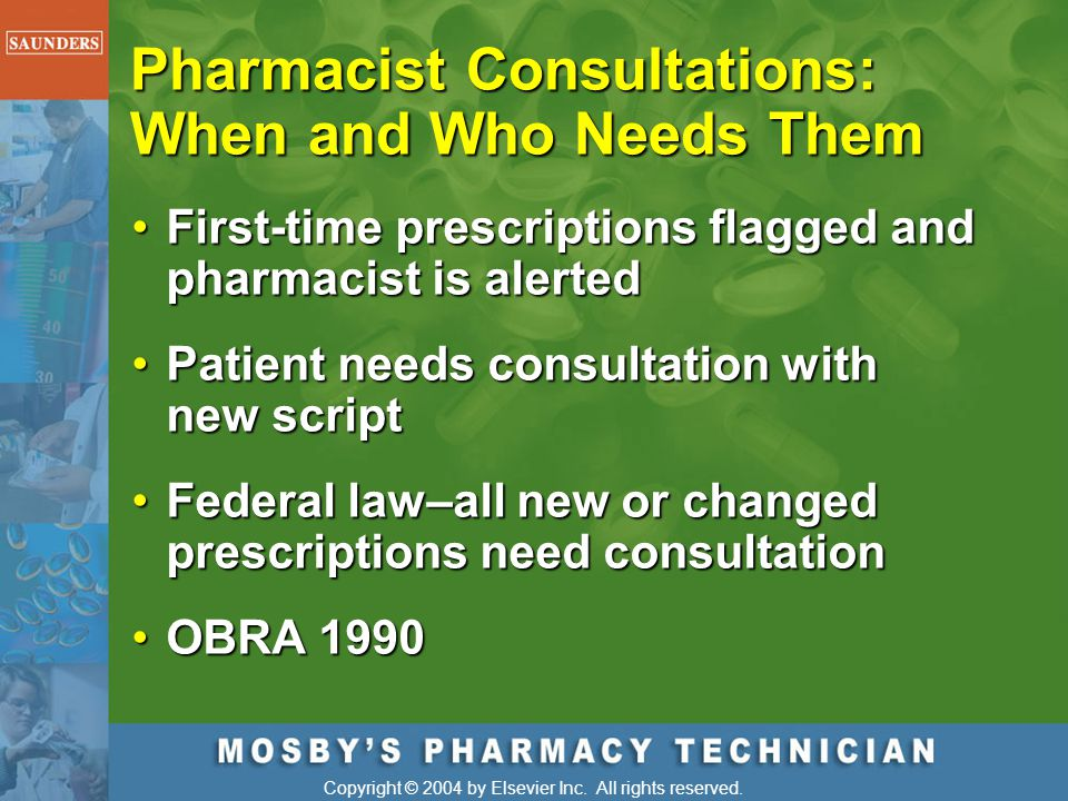 Pharmacist Consultations: When and Who Needs Them