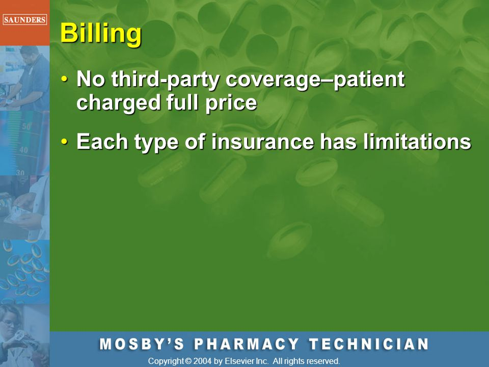 Billing No third-party coverage–patient charged full price