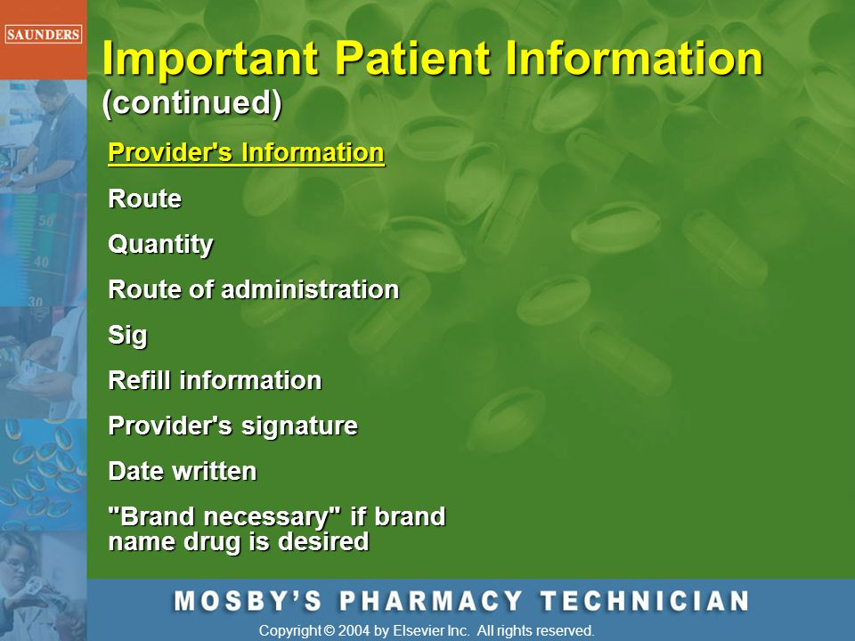 Important Patient Information (continued)