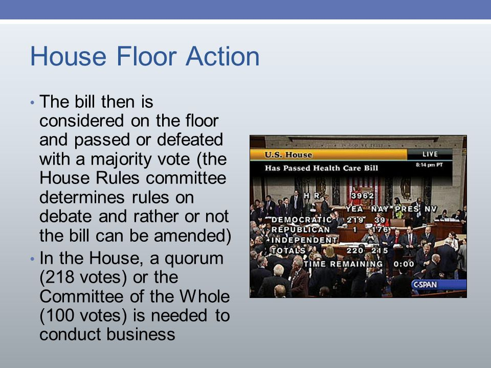 The role of the legislative branch ppt download for Floor action definition