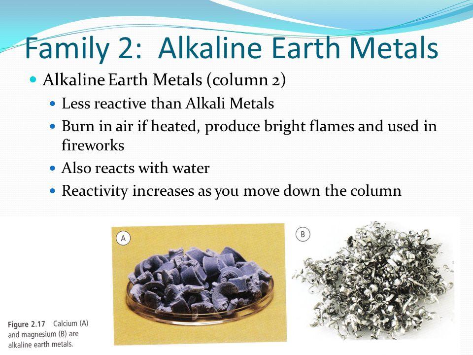 Family 2: Alkaline Earth Metals