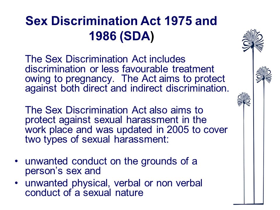 Of Discrimination Types Sex