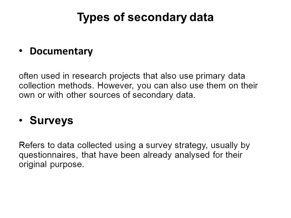 Types of research study methods