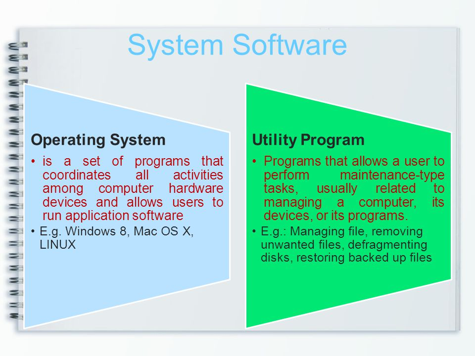 System Software Operating System Utility Program