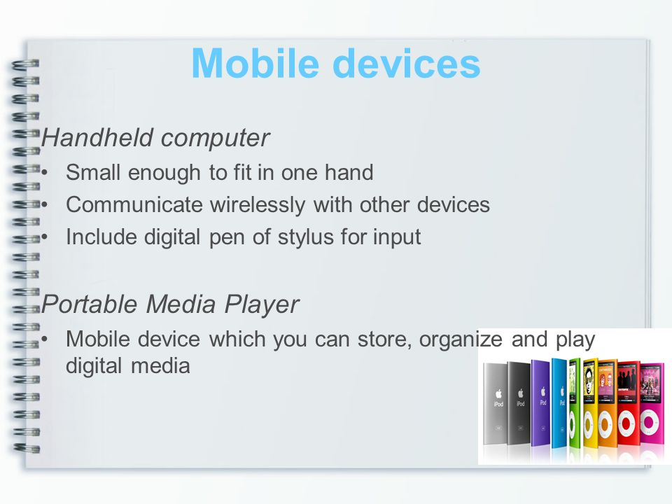 Mobile devices Handheld computer Portable Media Player