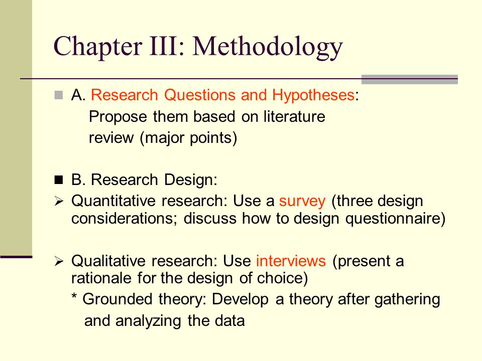 5 chapters of a quantitative research thesis Quantitative research includes laboratory and field acceptable for this section as well as sections 1-e and 1-g to appear in other chapters of the dissertation.