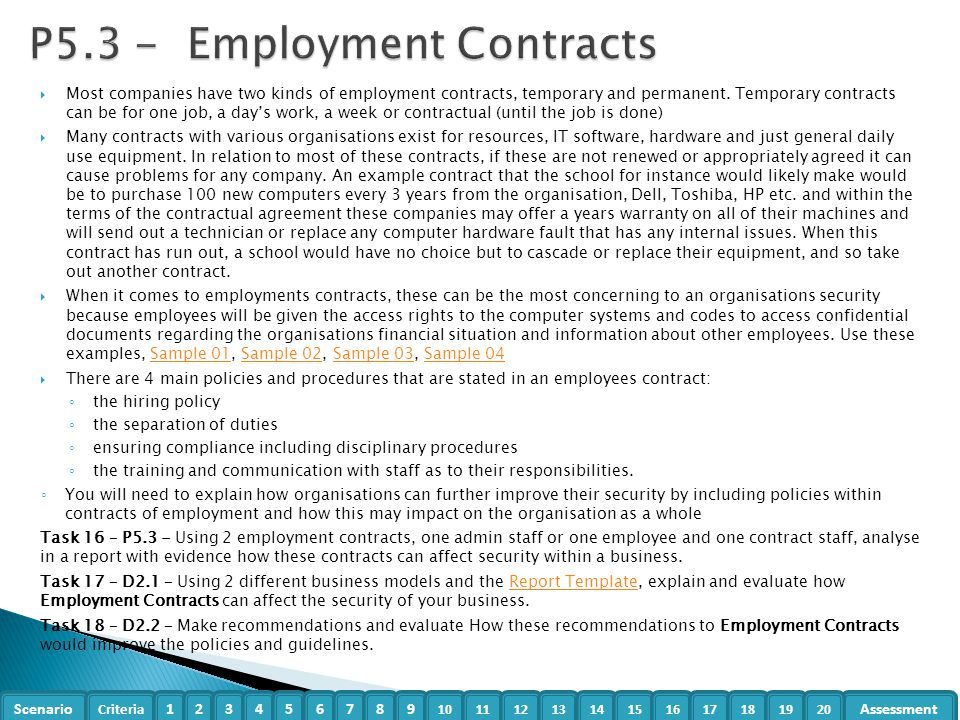 unit 18 task 1 p5 p6 A contract is a set of mutually agreed promises made between parties with the intention of creating a legally binding agreement it is important to analyse exactly what it is that the parties are agreeing to do.