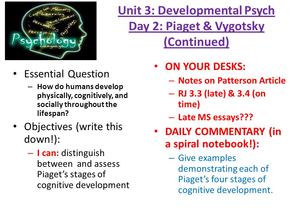 developmental psychology 14 essay Some children do not reach specific developmental milestones, such as walking  or  yolanda has taught college psychology and ethics, and has a doctorate of.