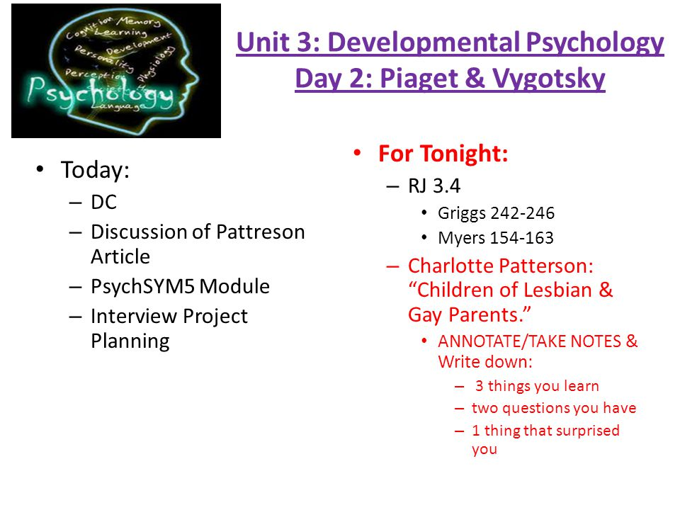 unit 3 psychology notes These unit guides are meant to give you an idea of what you're supposed to   remember, handwritten notes are allowed to be used on all quizzes (not unit  tests),  units 3-4 guide  slide deck: psych disorders/abnormal psychology.