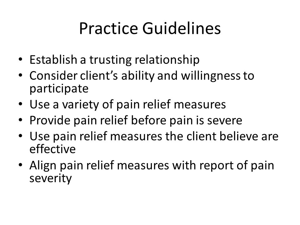 guidelines for establishing a trusting relationship