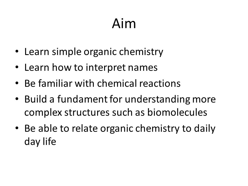 How should I prepare for organic chemistry in 1 day? - Quora