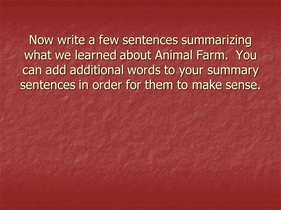 Write a few sentences about your friends