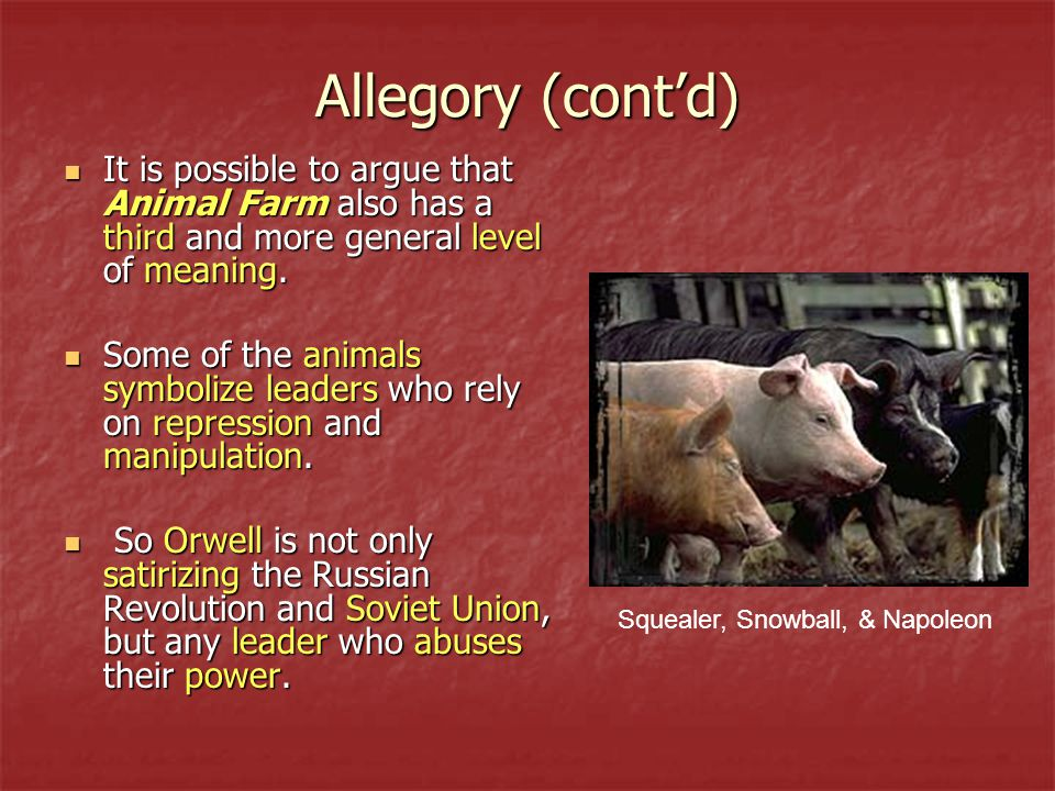 the satire on the russian revolution in the novel animal farm Essay on animal farm and the russian revolution 877 words | 4 pages george orwell's novel animal farm is a great example of allegory and political satire.