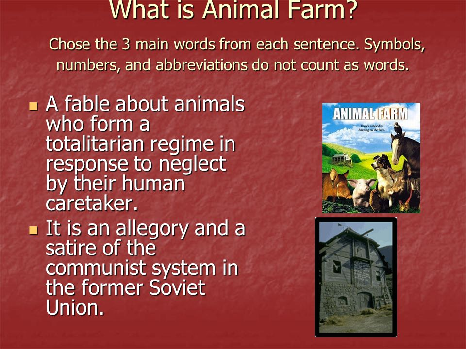 the allegory of totalitarianism in animal farm by george orwell A look at the socialist beliefs of george orwell also, a look at his writings on soviet communism george orwell was a fascinating figure and brilliant writer he was an idealist, who is best known for his work in warning of the dangers of totalitarianism (whatever its political form) this can be seen in the two classics 1984, and animal farm.