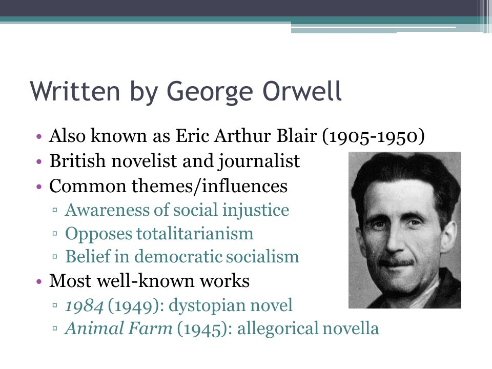 A biography of eric blair also known as george orwell