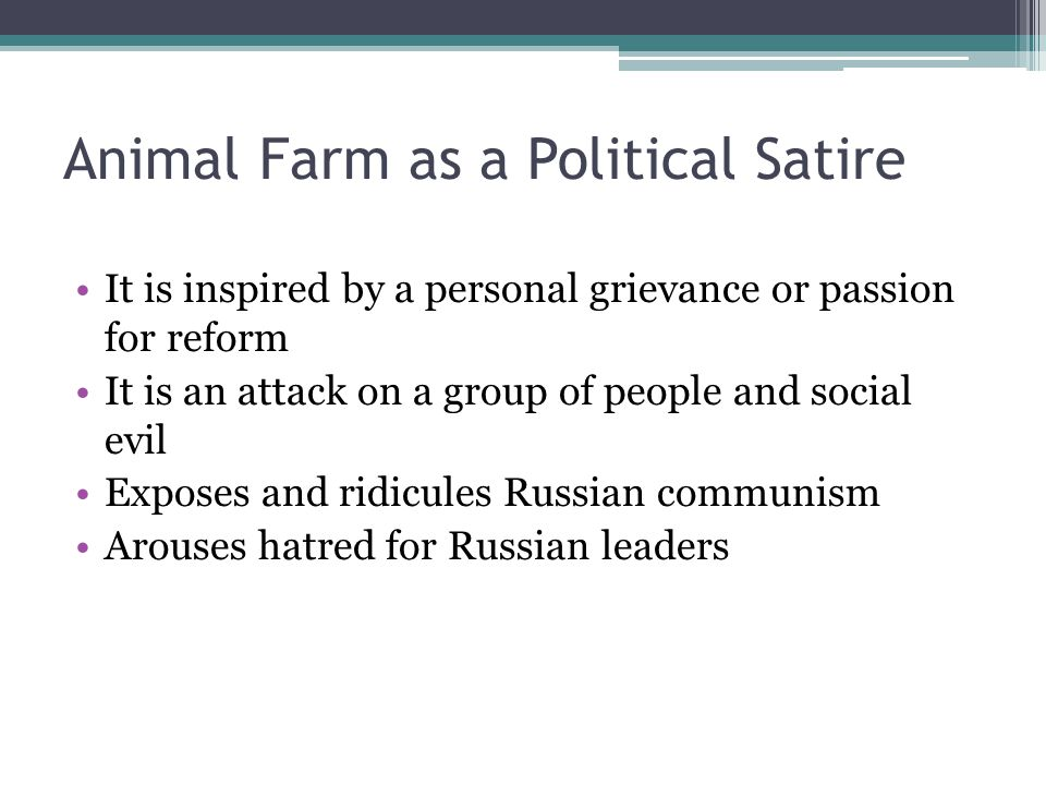 "animal farm ""a fairy story"" george orwell ppt video online  animal farm as a political satire"