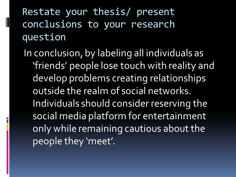presenting your thesis Presenting results (quantitative) how do you present your results (quantitative) in a quantitative dissertation or capstone you will be presenting your results.