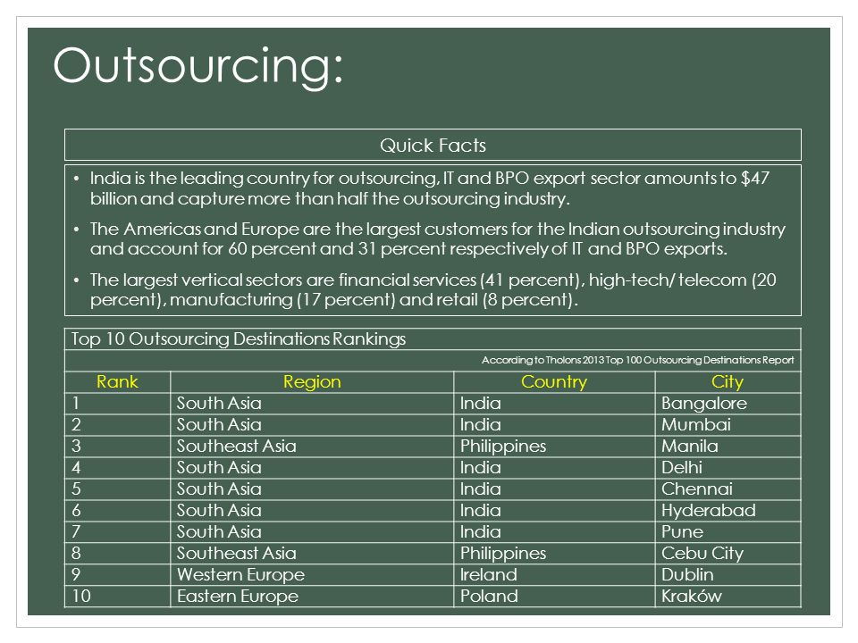 difference between outsourcing and offshoring pdf