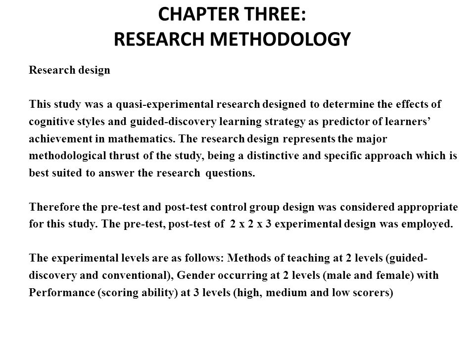 chapter 3 research design and methodology pdf