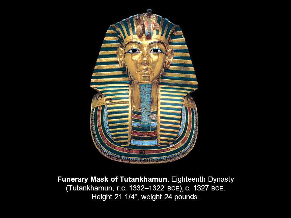 Funerary Mask of Tutankhamun. Eighteenth Dynasty (Tutankhamun, r. c