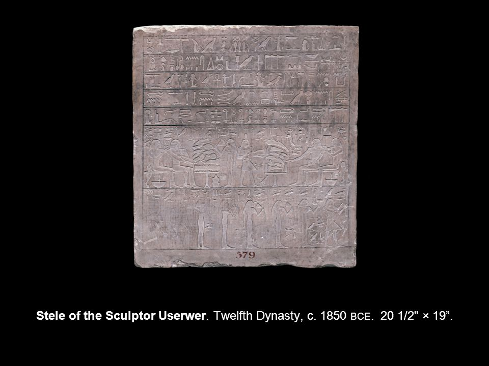 Stele of the Sculptor Userwer. Twelfth Dynasty, c BCE