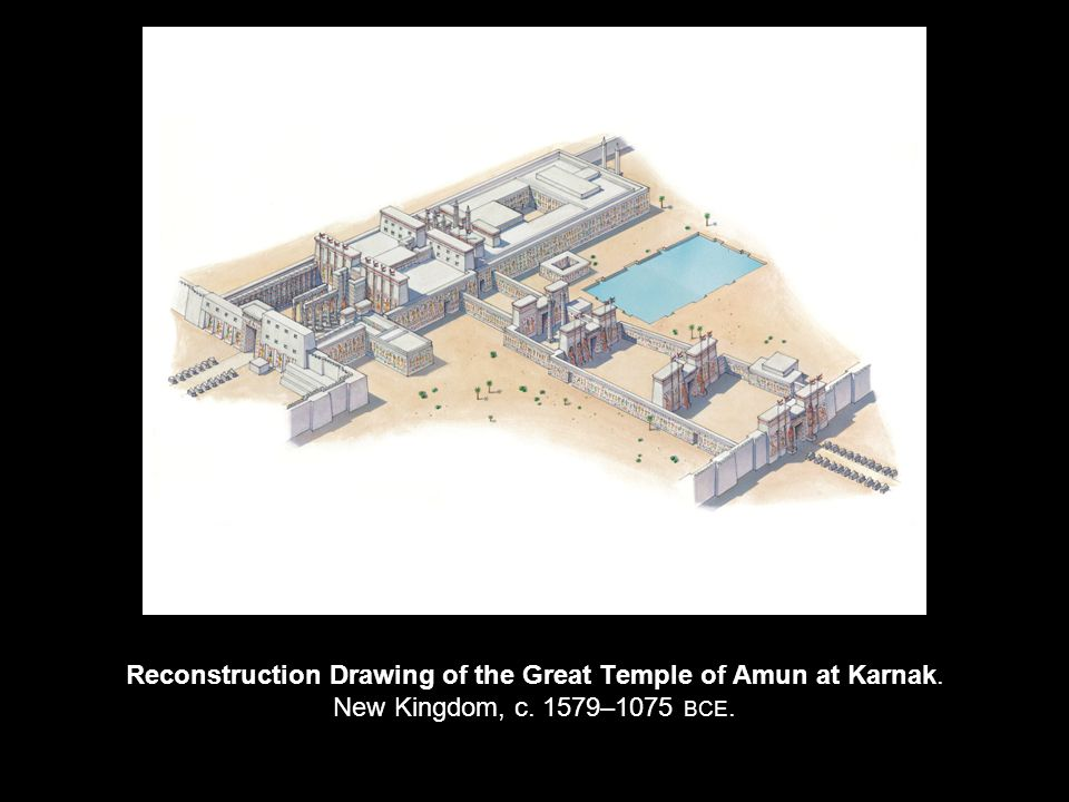 Reconstruction Drawing of the Great Temple of Amun at Karnak