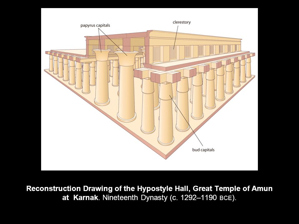 Reconstruction Drawing of the Hypostyle Hall, Great Temple of Amun at Karnak.