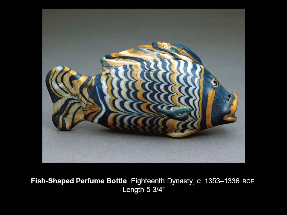 Fish-Shaped Perfume Bottle. Eighteenth Dynasty, c. 1353–1336 BCE