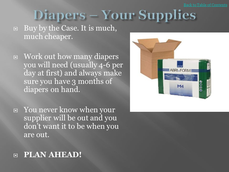 Diapers – Your Supplies