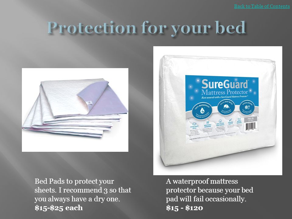 Protection for your bed